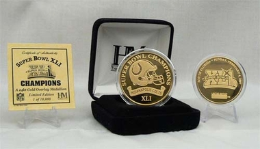 Indianapolis Colts Super Bowl XLI 24KT Gold Champions Coin