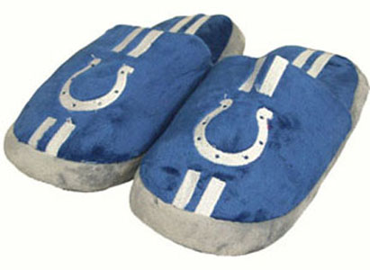 Indianapolis Colts YOUTH Team Stripe Slide Slippers - Large