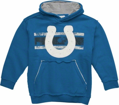 Indianapolis Colts YOUTH Vintage Striped Hooded Sweatshirt