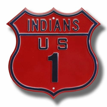 Indians / 1 Route Sign