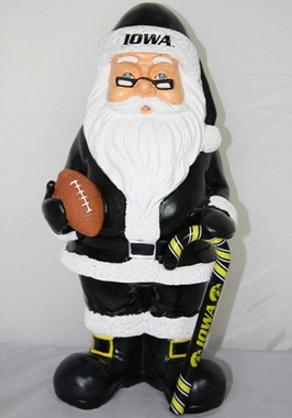 Iowa 11 Inch Resin Team Santa Figurine