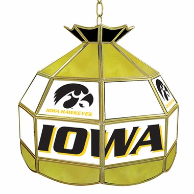Iowa 16 Inch Diameter Stained Glass Pub Light