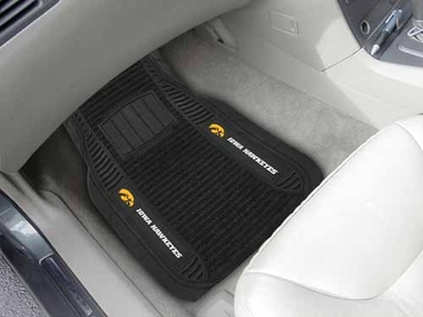 Iowa 2 Piece Heavy Duty DELUXE Vinyl Car Mats