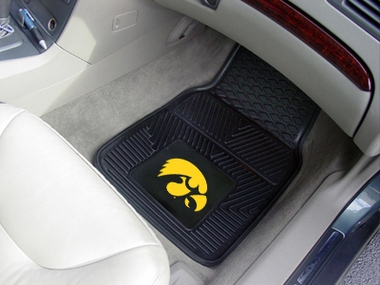 Iowa 2 Piece Heavy Duty Vinyl Car Mats
