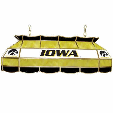 Iowa 40 Inch Rectangular Stained Glass Billiard Light