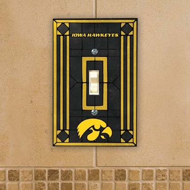 Iowa Art Glass Lightswitch Cover
