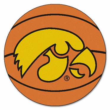 Iowa Basketball Shaped Rug