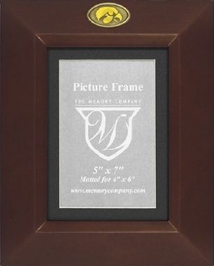 Iowa BROWN Portrait Picture Frame