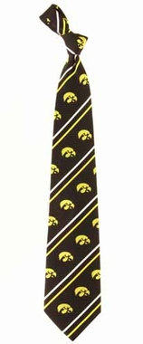 Iowa Cambridge Woven Silk Necktie