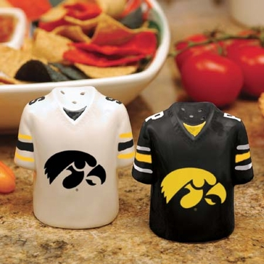 Iowa Ceramic Jersey Salt and Pepper Shakers