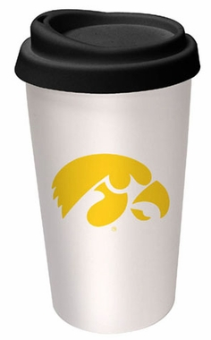 Iowa Ceramic Travel Cup