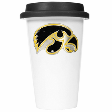 Iowa Ceramic Travel Cup (Black Lid)