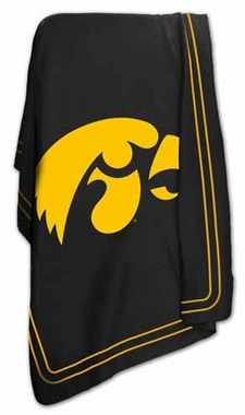Iowa Classic Fleece Throw Blanket