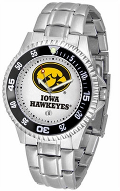 Iowa Competitor Men's Steel Band Watch