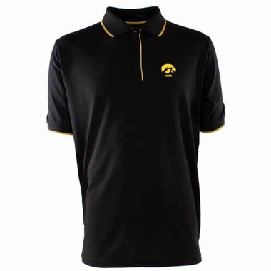 Iowa Mens Elite Polo Shirt (Color: Black)