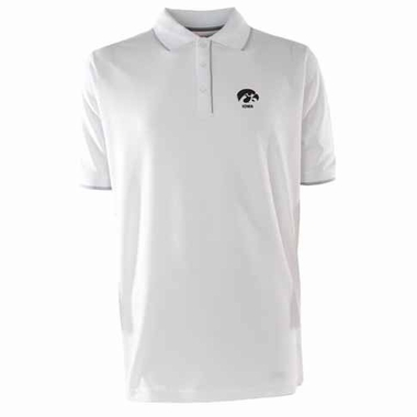 Iowa Mens Elite Polo Shirt (Color: White)