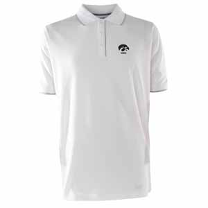 Iowa Mens Elite Polo Shirt (Color: White) - Large