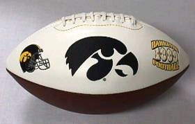 Iowa Embroidered Foto Football