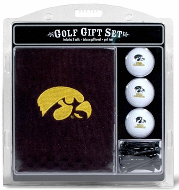 Iowa Embroidered Towel Golf Gift Set