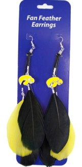 Iowa Feather Earrings