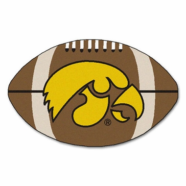 Iowa Football Shaped Rug