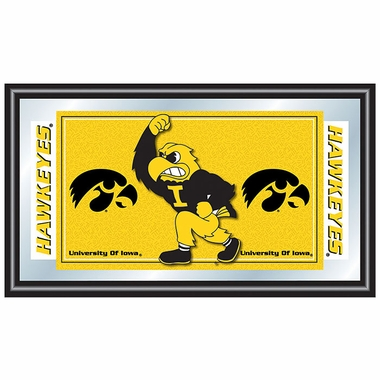 Iowa Framed Logo Mascot Bar Mirror