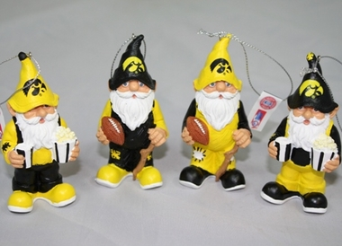 Iowa Gnome Ornament 4 Pack
