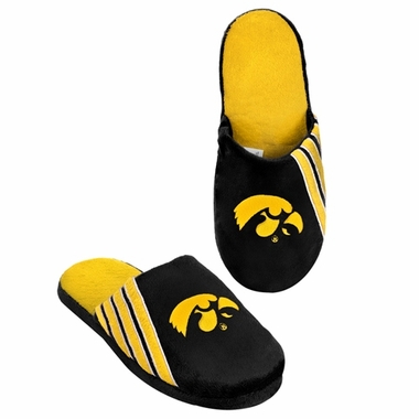 Iowa Hawkeyes 2012 Team Stripe Logo Slippers