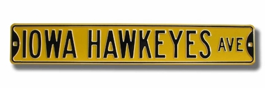 Iowa Hawkeyes Ave Street Sign