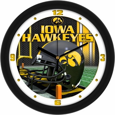 Iowa Helmet Wall Clock