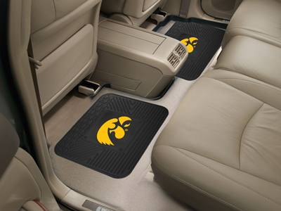 Iowa SET OF 2 Heavy Duty Vinyl Rear Car Mats
