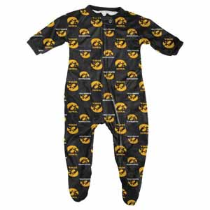 Iowa Infant Footed Zip Raglan Coverall Sleeper - 12 Months