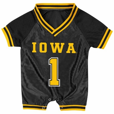 Iowa Infant Pounce Football Jersey Onesie