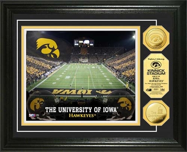 Iowa Hawkeyes University of Iowa Stadium Gold Coin Photo Mint