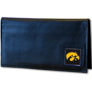 Iowa Leather Checkbook Cover (F)