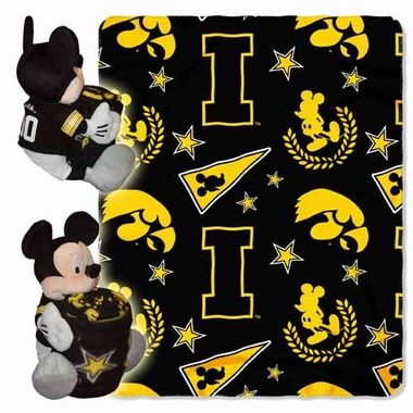 Iowa Mickey Mouse Pillow / Throw Combo