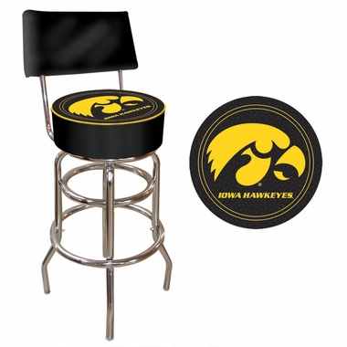 Iowa Padded Bar Stool with Back