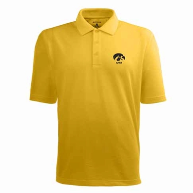 Iowa Mens Pique Xtra Lite Polo Shirt (Alternate Color: Gold)