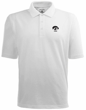 Iowa Mens Pique Xtra Lite Polo Shirt (Color: White)
