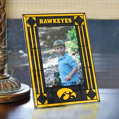 Iowa Portrait Art Glass Picture Frame