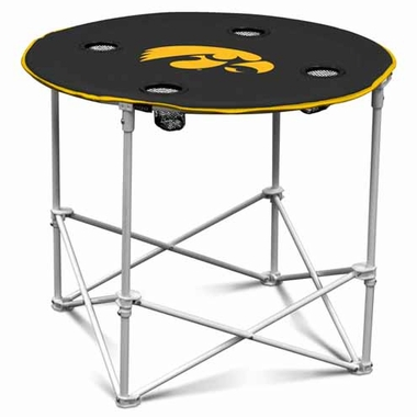 Iowa Round Tailgate Table