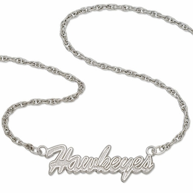 Iowa Script Necklace