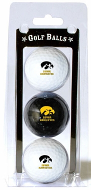 Iowa Set of 3 Multicolor Golf Balls