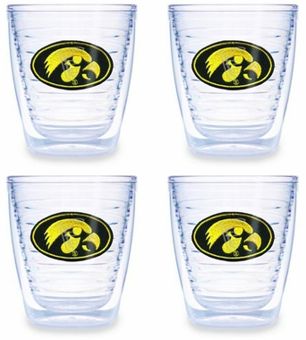 Iowa Set of FOUR 12 oz. Tervis Tumblers