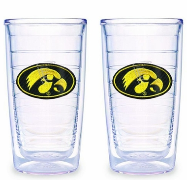 Iowa Set of TWO 16 oz. Tervis Tumblers