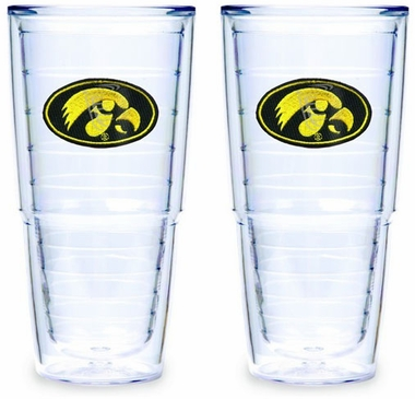 Iowa Set of TWO 24 oz. Tervis Tumblers