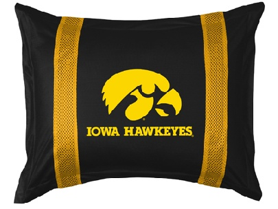 Iowa SIDELINES Jersey Material Pillow Sham