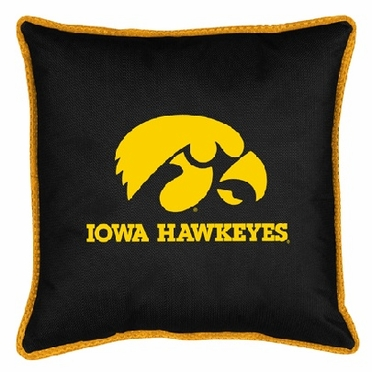 Iowa SIDELINES Jersey Material Toss Pillow
