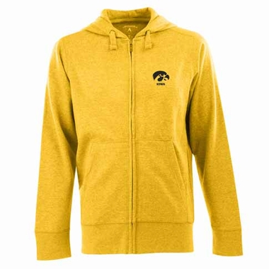Iowa Mens Signature Full Zip Hooded Sweatshirt (Alternate Color: Gold)