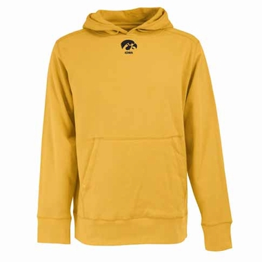 Iowa Mens Signature Hooded Sweatshirt (Color: Gold)